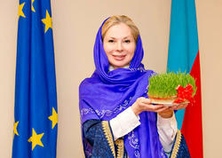 Malena Mard Azərbaycanın milli geyimində - FOTO