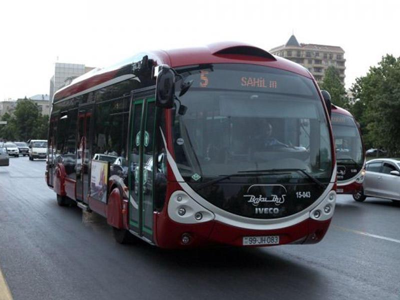 Bakıda avtobuslar üçün xüsusi hərəkət zolaqları çəkilir