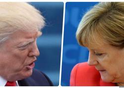 Tramp və Merkel bir-birlərinə əl verməyiblər - VİDEO