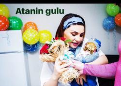 Evli kişi ilə ailəli olan Şəbnəm yeni doğulan oğlunun ilk FOTOlarını paylaşdı