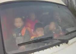 Polis heyrətləndi: mikroavtobusdan 74 uşaq çıxdı - VİDEO - FOTO