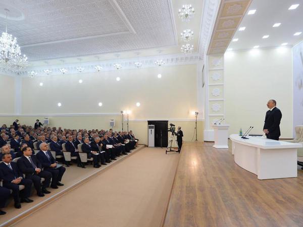 """Prezident İlham Əliyev: """"""""Made in Azerbaijan"""" brendi artıq dünyaya yayılıb"""""""