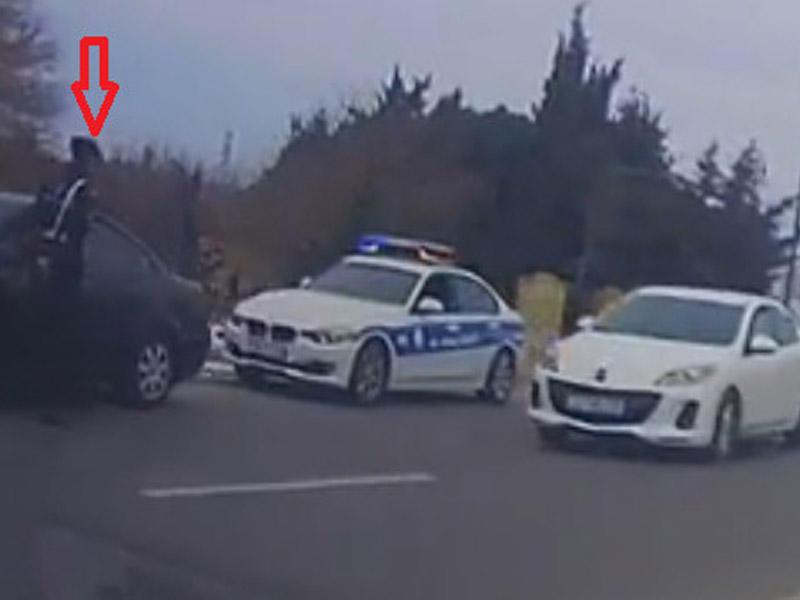 Yol polisinin və kameranın qarşısında da qayda pozanlar - VİDEO - FOTO