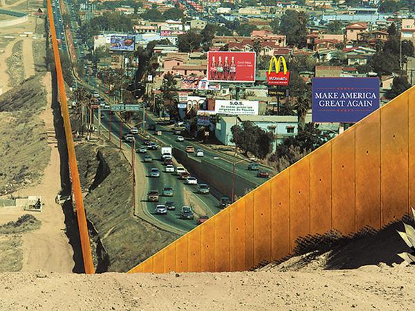 Meksika-ABŞ sərhədində hava tikilərsə - FOTO