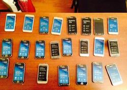 Azərbaycana qanunsuz gətirilən 23 mobil telefon aşkar edildi - FOTO