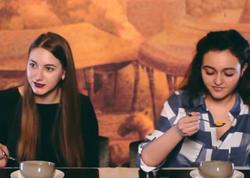 Ukraynalı qızlar Azərbaycan düşbərəsinə heyran oldular - VİDEO