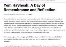 """""""Jewish Journal"""" Holokostdan və Xocalı qətliamından yazdı"""