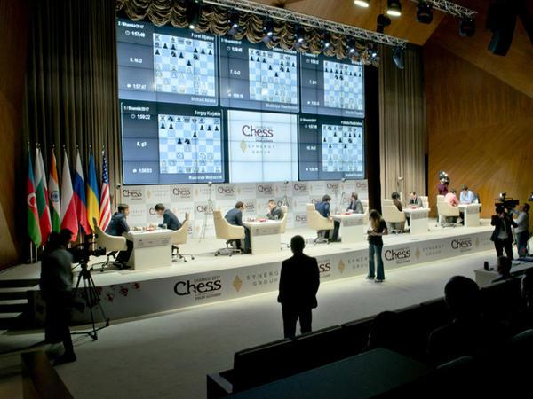 """Shamkir Chess 2017-də IV tur: <span class=""""color_red"""">Məmmədyarov Rəcəbova qarşı - FOTO</span>"""
