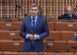 Azərbaycanlı deputat AŞPA-da erməniləri ifşa etdi