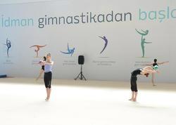 Bədii gimnastika üzrə Dünya Kubokunun iştirakçıları Milli Arenada məşqlərə başladı - FOTO