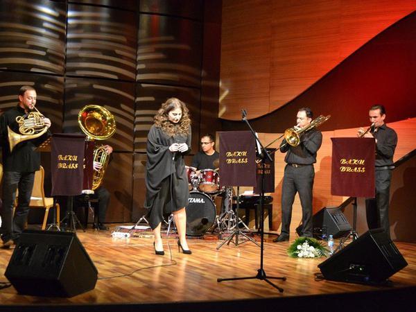 """Beynəlxalq  Muğam Mərkəzində """"Baku Brass"""" ansamblının konserti - FOTO"""