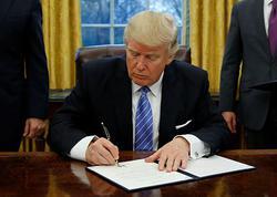 Tramp fərman imzalayıb