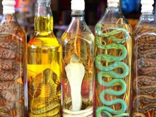 İlandan hazırlanan alkoqollu içkilər - FOTO