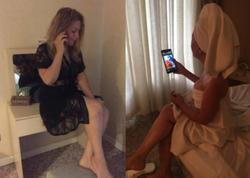 Aktrisanın Gəncədəki hoteldə açıq-saçıq FOTOları