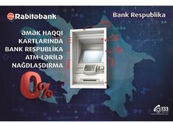 Rabitəbank ASC Vahid ATM şəbəkəsi layihəsini davam edir!