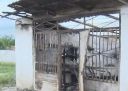 Şabranda mağaza yanaraq kül oldu - VİDEO - FOTO