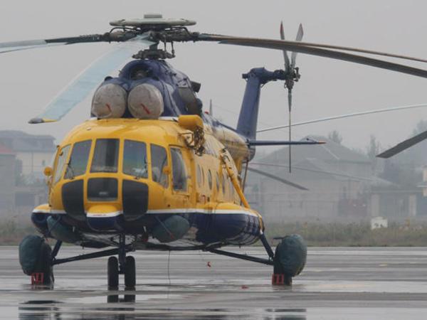 Azərbaycana məxsus helikopter qəza enişi etdi