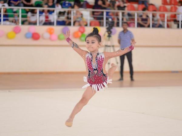 Kürdəmirdə bədii gimnastika üzrə 3-cü Kubok yarışı keçirilir - FOTO