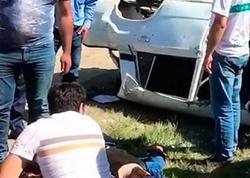 Bakıda AĞIR QƏZA: sürücü öldü, 1 nəfər isə ağır yaralandı - VİDEO