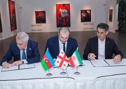 Azərbaycan, Gürcüstan, İran Dəmir Yolları arasında üçtərəfli protokol imzalandı - FOTO