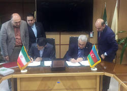 Azərbaycan və İran dəmir yolları arasında müqavilə imzalandı - FOTO