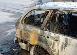 Bakıda BMW yandı