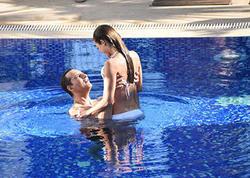 Azərbaycanlı modelin Rafet El Romanla romantik anları - FOTO