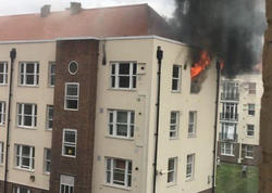 Londonda yaşayış binası yandı - FOTO