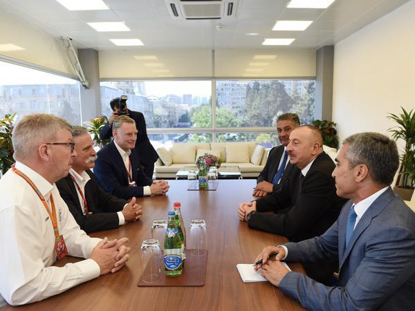 """Azərbaycan Prezidenti İlham Əliyev """"Formula One Group""""un icraçı direktorunu qəbul edib - FOTO"""