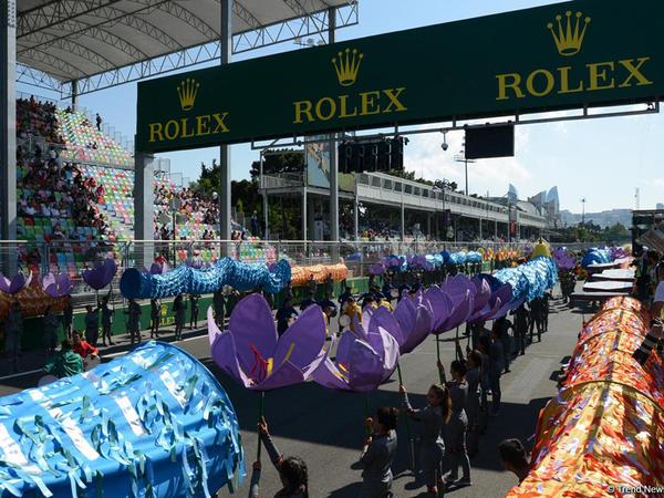 Bakıda Formula 1 Azərbaycan Qran Prisinin açılış mərasimi keçirilib - FOTO