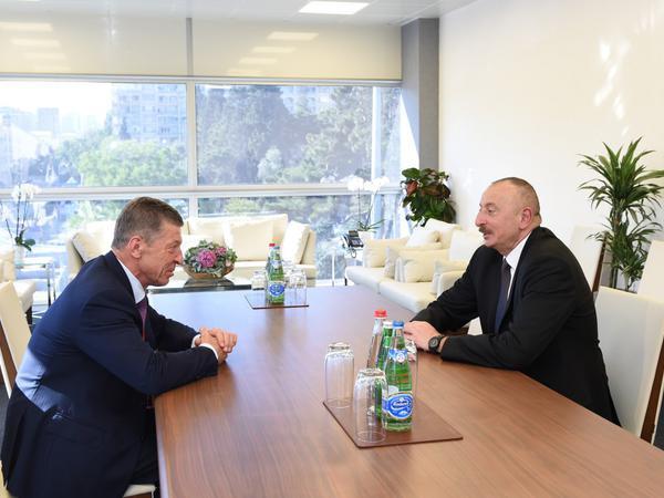 Azərbaycan Prezidenti İlham Əliyev Rusiya Baş nazirinin müavinini qəbul edib