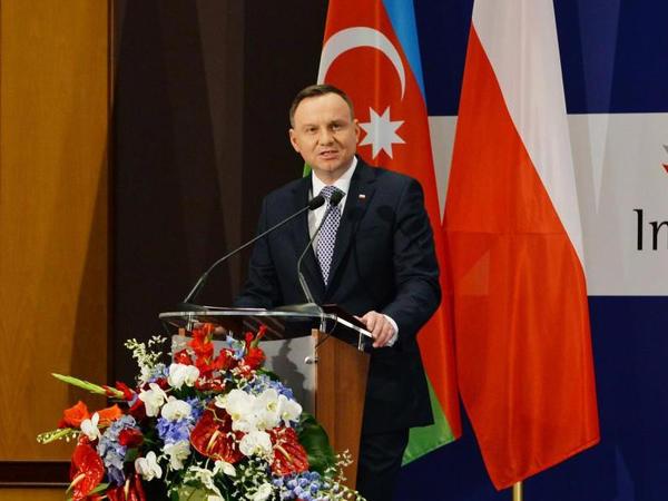 """Prezident Andjey Duda: """"Azərbaycan Polşanın Cənubi Qafqaz və Xəzər dənizi regionunda mühüm tərəfdaşıdır"""""""