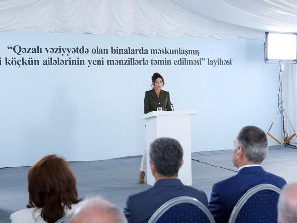 """Mehriban Əliyeva: """"Biz mütləq bütün arzularımıza çatacağıq, ədalət bərpa olunacaq, Qarabağ problemi həllini tapacaq"""""""