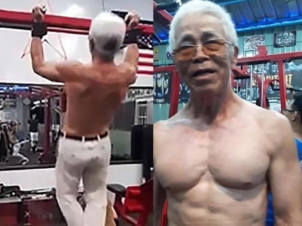 Dünyanın ən güclü babası: 72 yaşlı qocanın məşqi heyrətləndirir - VİDEO - FOTO