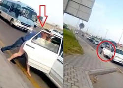 Bakıda zorakılıq: qadını çığırda-çığırda maşına mindirdilər - VİDEO