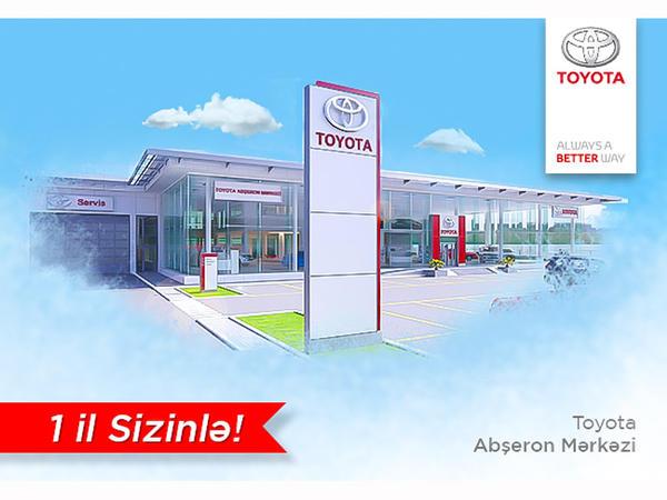 Toyota Abşeron Mərkəzi 1 yaşını endirimlərlə qeyd edir