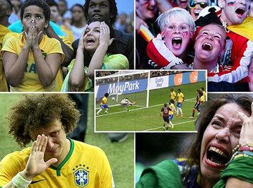 DÇ-2014: Braziliya - Almaniya oyununda səkkiz qol və antirekord