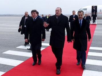Gürcüstan Prezidenti Qəbələyə səfər edib - YENİLƏNİB - FOTO