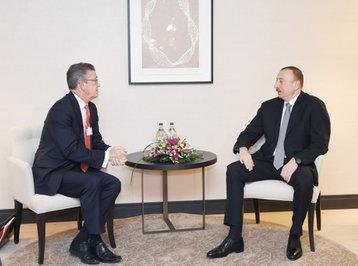 Prezident İlham Əliyev Davosda bir sıra görüşlər keçirib - YENİLƏNİB