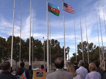 Azərbaycan bayrağı Kaliforniyada qaldırıldı