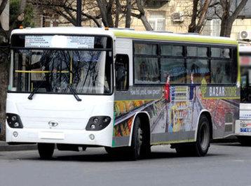 Bakıdakı avtobus sərnişinlə yükü səhv saldı