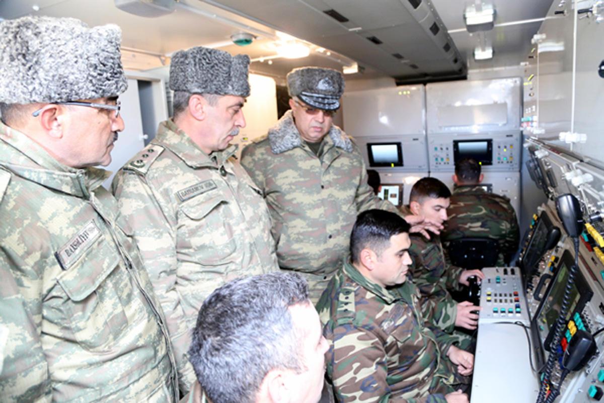 Hava Hücumundan Müdafiə Qoşunlarının döyüş atışlı təlimləri davam edir - FOTO