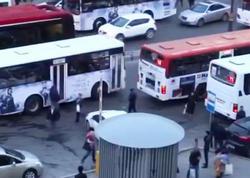 Müvəqqəti marşrutdan çıxarılan avtobus niyə xəttə buraxılmır? - VİDEO