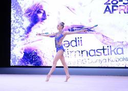 Bakıda bədii gimnastika üzrə Dünya Kuboku yarışlarının ikinci gününə start verilib - FOTO