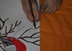 Ayaqları ilə rəsm çəkən Samirənin arzuları - FOTO
