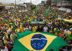 """Braziliyada NÜMAYİŞLƏR - <span class=""""color_red"""">Prezidentin istefası tələb edilir</span>"""