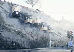 Quş damı kimi evlər tikilir - FOTO