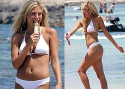 Kurortda bikini reklamına çəkildi - FOTO