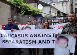 Ermənistan səfirliyi qarşısında etiraz aksiyası keçirildi - FOTO
