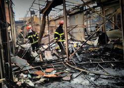 Gürcüstanda bazar yandı - FOTO
